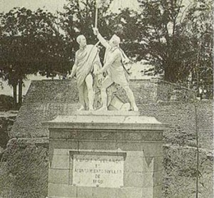 Daoiz y Velarde en la Moncloa entre los años 1902-1932