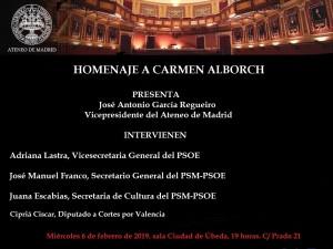 Homenaje a Carmen Alborch